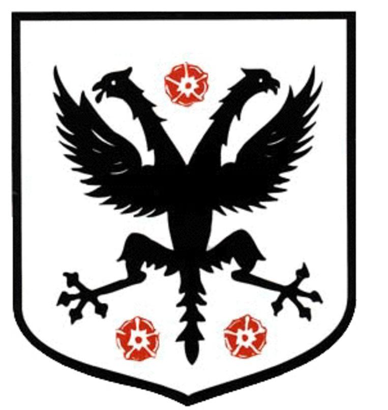 Het oude wapenschild van de stad Deinze.