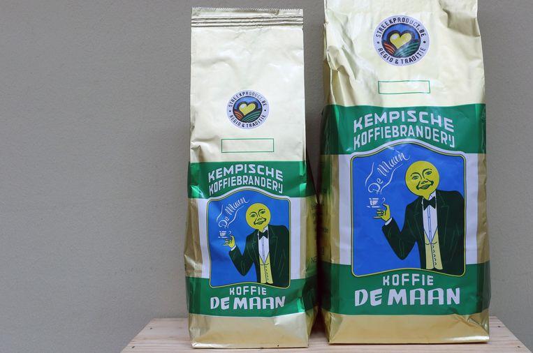 Koffie De Maan is in verschillende gewichten verkrijgbaar.
