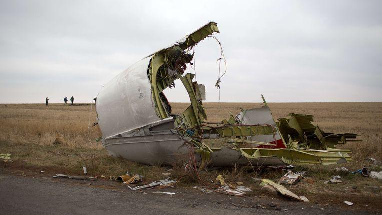 Een wrakstuk van vlucht MH17 Beeld AFP