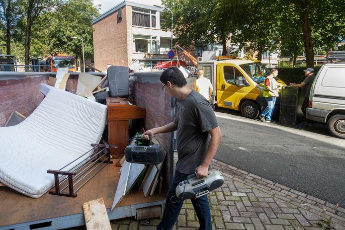 Bewoners kunnen gratis hun grofvuil dumpen tijdens de verhuizing bij de Nude in Wageningen