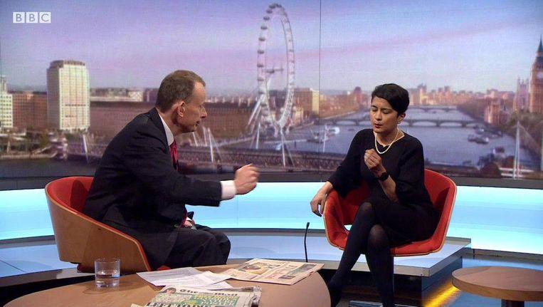 Op de sofa bij BBC's Andrew Marr noemde het socialistische Hogerhuislid het slechte weer als een van de oorzaken voor het electorale debacle Beeld
