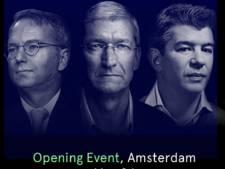 Live: Topmannen Apple en Google op Amsterdams tech-mekka