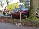 Auto ramt lantaarnpaal en boom in Oss, bestuurder neemt de benen en wordt later opgepakt