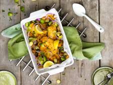 Wat Eten We Vandaag: Tilapia uit de oven met spruitjes en pompoen