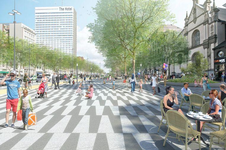 De oorspronkelijke plannen: van stadssnelweg naar de Brusselse Champs Elysées