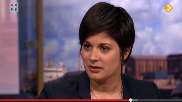 Screenshot van Monique Samuel bij het programma Schepper en Co. Beeld