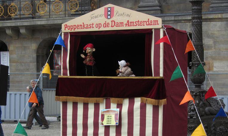 Poppenkast op de Dam. Beeld Poppenkastopdedam.nl