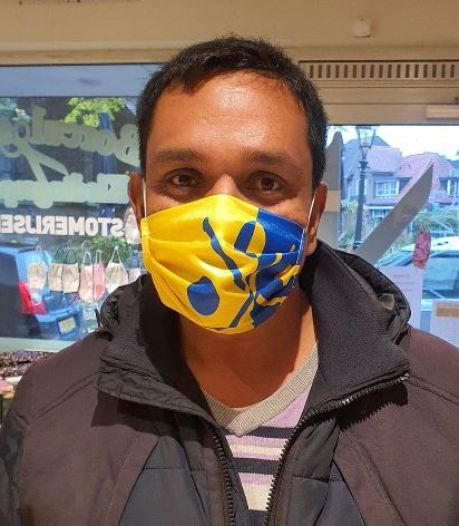 Borculose mondkapjes, bedrukt met het stadswapen