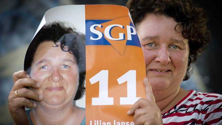 De eerste vrouwelijke SGP-kandidaat Lilian Janse. Beeld anp
