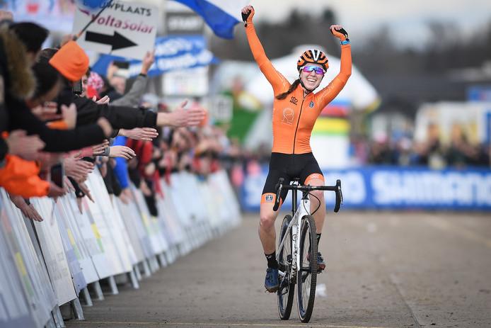Shirin van Anrooij, juniors woeld champion, Belga photo