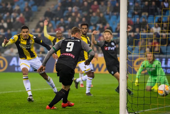 Het doelpunt van FC Groningen.