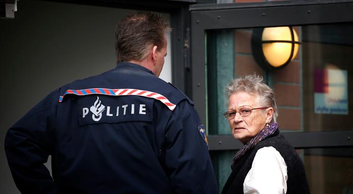 Maaike Vaatstra (nu Terpstra), de moeder van de vermoorde Marianne Vaatstra, tijdens de rechtszaak tegen moordenaar Jasper S in 2013.