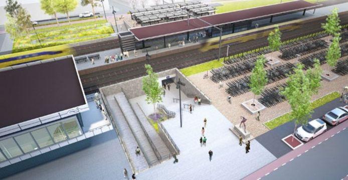 Aan de oostkant van station Bergen op Zoom komt een nieuwe hellingbaan, en een lift naar het middenperron.