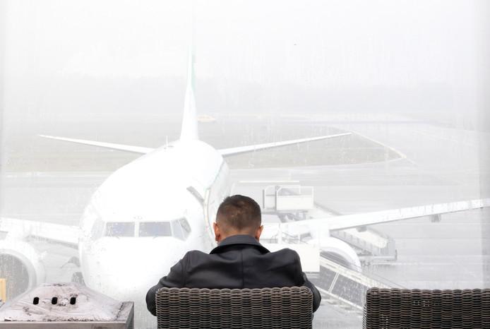 Mist op Eindhoven Airport
