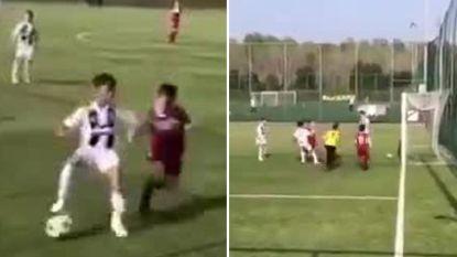 Hoogstandjes, dribbels en geobsedeerd door de goal: Cristiano Junior treedt in voetsporen (apetrotse) papa met heerlijke goals