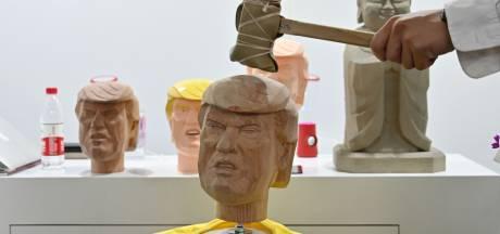 Bezoekers Chinese techbeurs gaan met hamer los op kop-van-Trump
