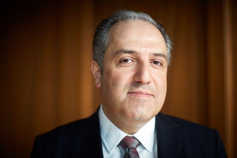 Mustafa Yeneroğlu was campagneleider in Europa namens de AKP van Erdogan. Beeld Phil Nijhuis