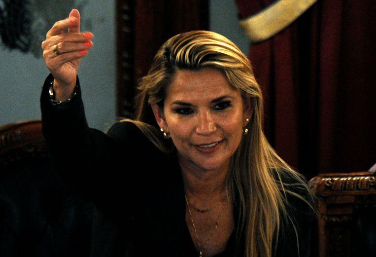 Interim-president Jeanine Áñez. Beeld AFP