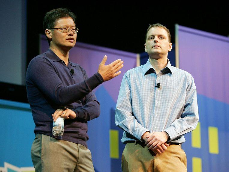 Jerry Yang en David Filo. Beeld anp