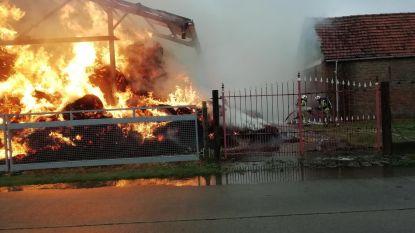 Inferno in schuur: brandende stukjes stro vliegen tot op balkons in Nieuwpoort-Bad