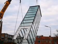 Schacht voor lift op Kerkbuurt Sliedrecht is geplaatst