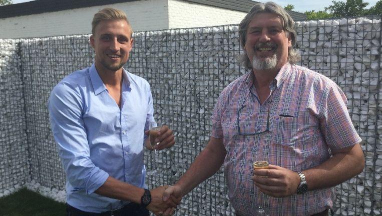 Champagne: Robin Overbeeke en Alain Cammaert (bestuurslid bij Asse-Lennik).
