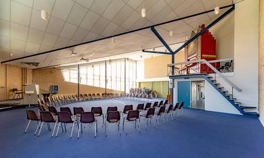 De Sionskerk biedt ruimte voor ongeveer 275 zitplaatsen.