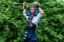 Joren Zandstra (34), deelnemer aan de WK naginata in Wiesbaden.