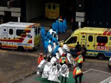 Ziekenhuizen in Hongkong hebben handen vol aan betogers van universiteit