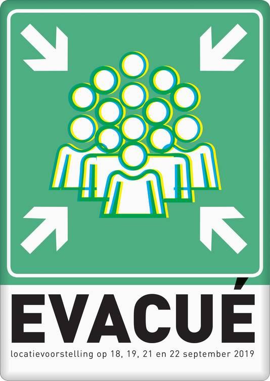 Het affiche van 'Evacué' door Introdans.