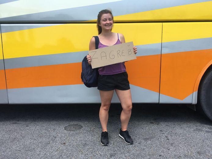 Coline Heraud (22) uit het Franse Saint-Étienne trekt er alleen op uit nadat ze een weekje met vriendinnen heeft doorgebracht in Ljubljana.