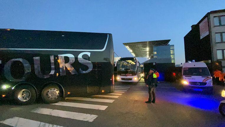 Het bleef al bij al rustig voor, tijdens en na de wedstrijd tussen RAFC en Brugge.