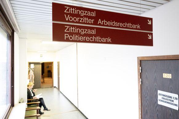 Arbeidsrechtbank in het gerechtsgebouw van Mechelen.