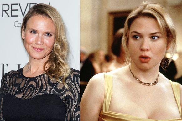 Vergelijk zelf: Renee Zellweger in 2014 op de rode loper en in 2001 als Bridget Jones.
