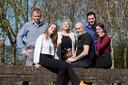 Frans Brouwers met vrouw en kinderen in april dit jaar.