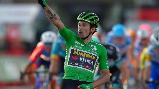 Roglic wint na indrukwekkende sprint bergop en neemt rode trui over van Carapaz
