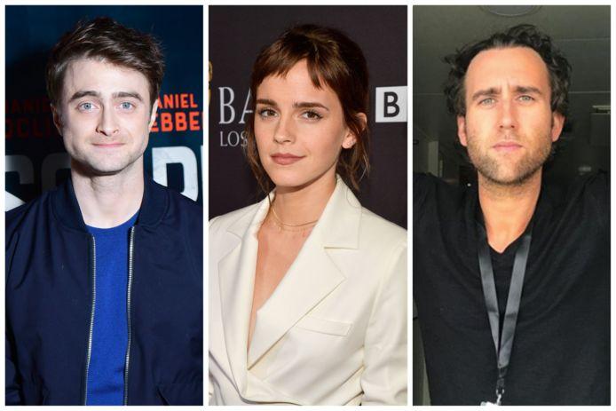 'Harry Potter'-sterren Daniël Radcliffe, Emma Watson en Matthew Lewis