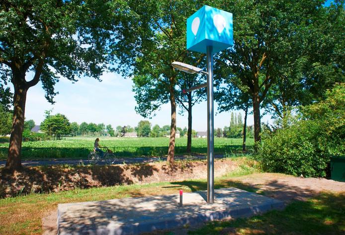 Het kunstwerk in Loosbroek wordt op vrijdag 18 september onthuld.