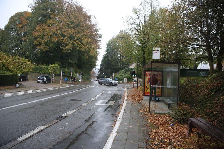 Een archiefbeeld van de Brusselsesteenweg in Alsemberg.