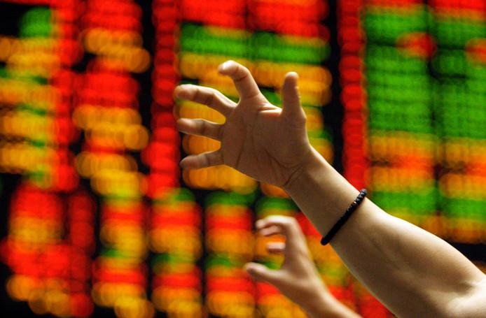 Paniek op de beurs in 2008.