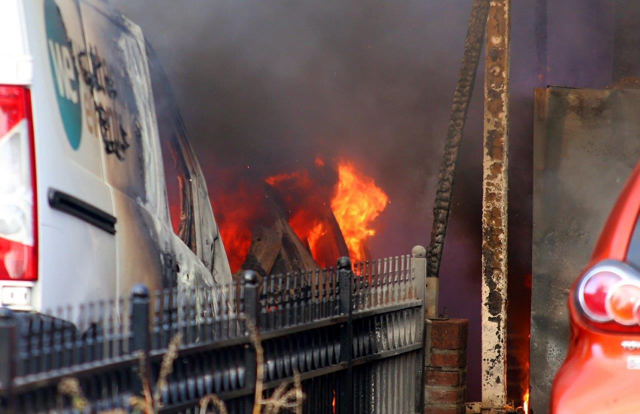 Ravage na de brand in Sint-Michielsgestel.
