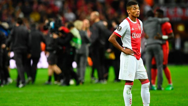 David Neres (hier op archiefbeeld) maakte een van de drie doelpunten voor Ajax. Beeld ANP