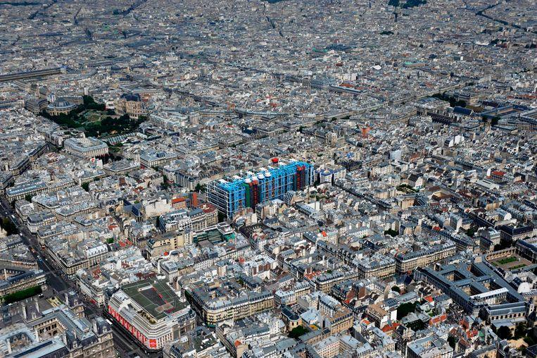 Het Centre Pompidou in Parijs.
