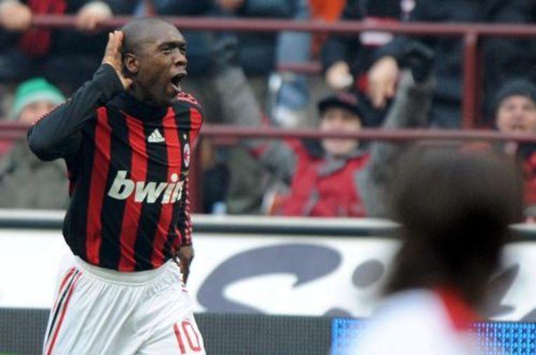 Clarence Seedorf heeft zijn ploeg AC Milan zaterdag aan een overwinning op Chievo geholpen. Foto ANP Beeld