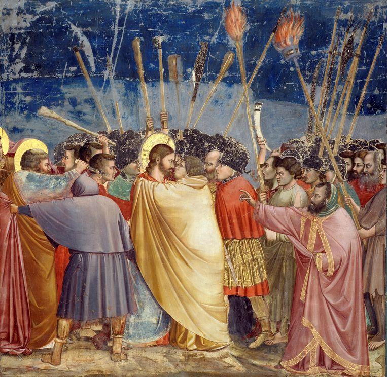 Giotto, Judaskus, 1304-1306, Arenakapel, Padua. Beeld Collectie Scrovegni kapel Padua