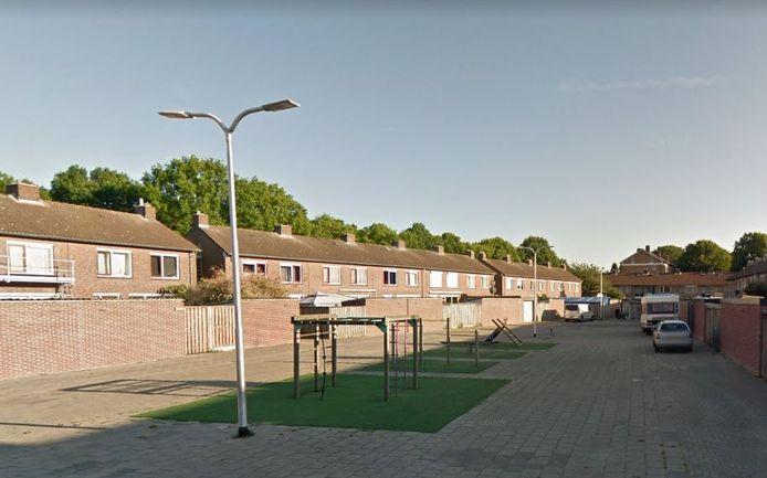 Het plein dat wordt omgebouwd tot 'pop-up park'.
