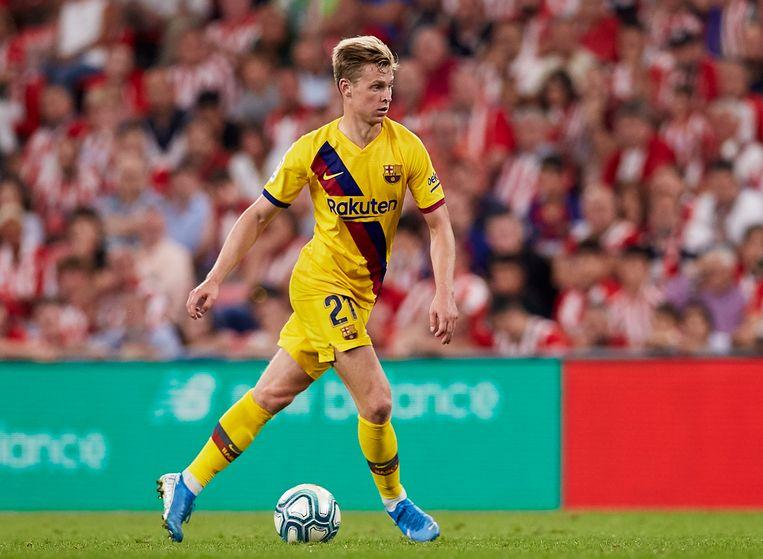 Frenkie de Jong tijdens de wedstrijd tegen Athletic Bilbao. Beeld AP
