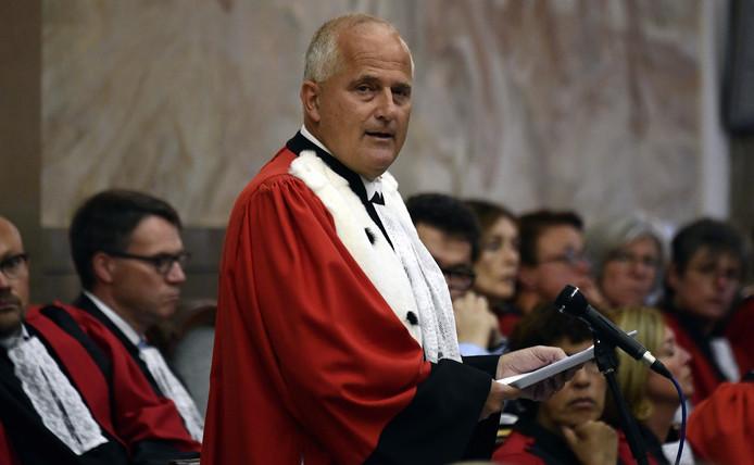 Johan Delmulle lors de la rentrée judiciaire 2018