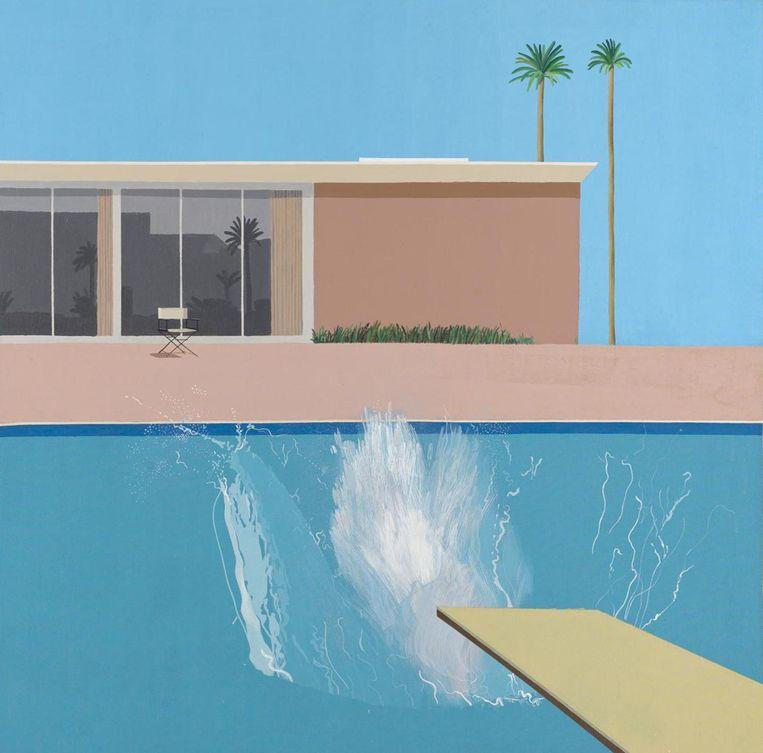 A Bigger Splash, 1967. Beeld David Hockney