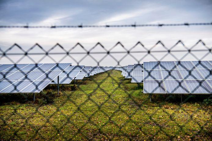 Een zonnepark in de gemeente Midden Groningen.
